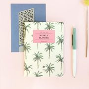 Iconic A6 Weekly Planner v.2 Palm Tree