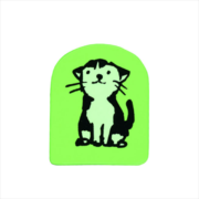 PRE-ORDER: Wooden Stamp Cat Sitting