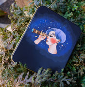 LDV Telescope Girl Sticker Storage Tin Box