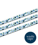 Blue Flowers washi