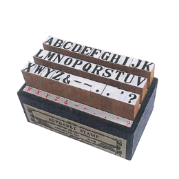 Wooden Stamp Set Classical Aphabet