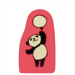 Wooden Stamp Panda Balloon