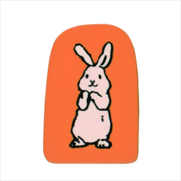 Wooden Stamp Bunny Giggle