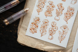 OURS Ink Flower Transfer Stickers