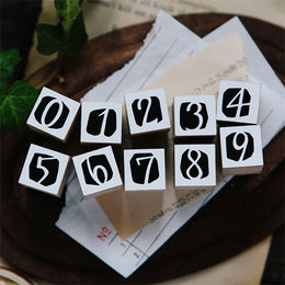 OURS Number in Black DIY Rubber Stamp Set