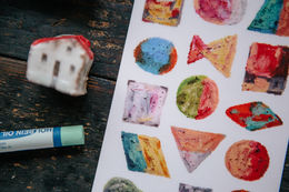 OURS Oil Pastel Print-on Stickers