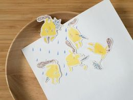 Dodolulu | The Yellow Raincoat - Stickers