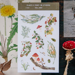 OURS Plants II Print-on Stickers