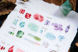 OURS Birthstones Print-on Stickers