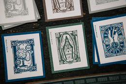 OURS Letterpress In the Museum Postal Stamp