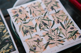 OURS Olive Branches Stamp Style Sticker Set