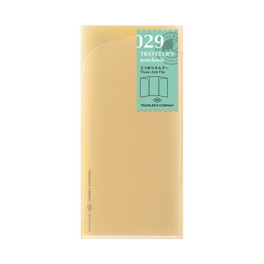 Traveler's Notebook | 029 Three Fold Refill Regular Size