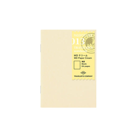 Traveler's Notebook | 013 MD Paper Cream Refill Passport Size
