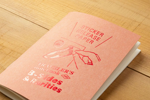 Traveler's Notebook Passport Size: Refill Sticker Release Paper