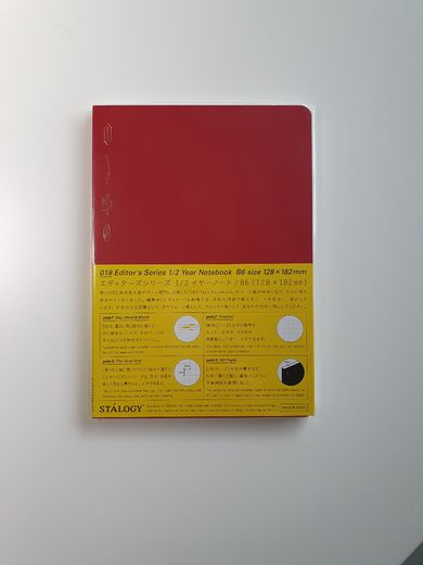 B6 Stálogy ½ Year Notebook Red