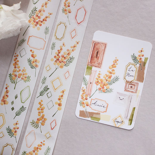 LOIDESIGN | 5 cm washi tape - Acacia Flower