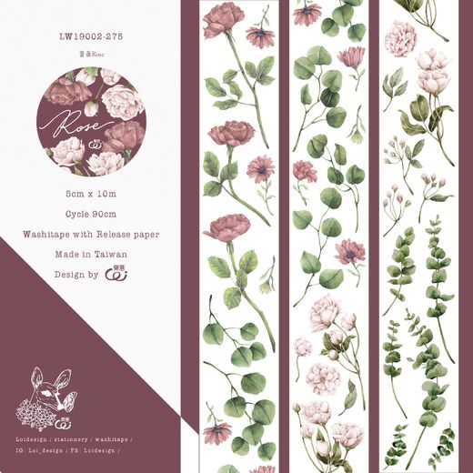 LOIDESIGN | 5 cm washi tape - Rose