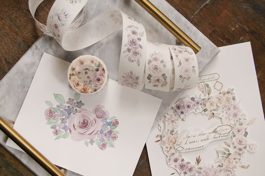 LOIDESIGN | 3 cm washi tape - Pink Rose