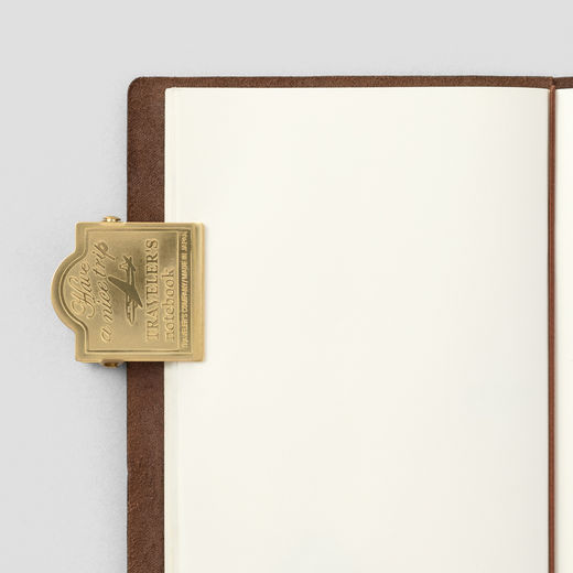 Traveler's Notebook | 030 Brass Clip Airplane