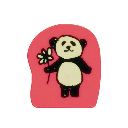 Wooden Stamp Panda Flower