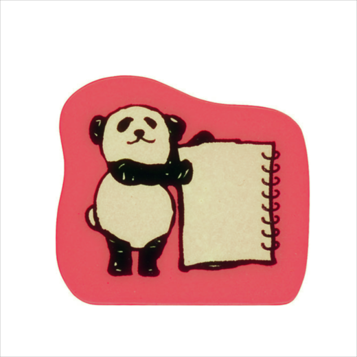 Wooden Stamp Panda Note