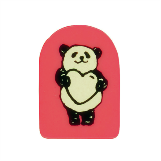 Wooden Stamp Panda Heart