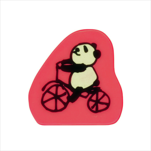Wooden Stamp Panda Bicycle