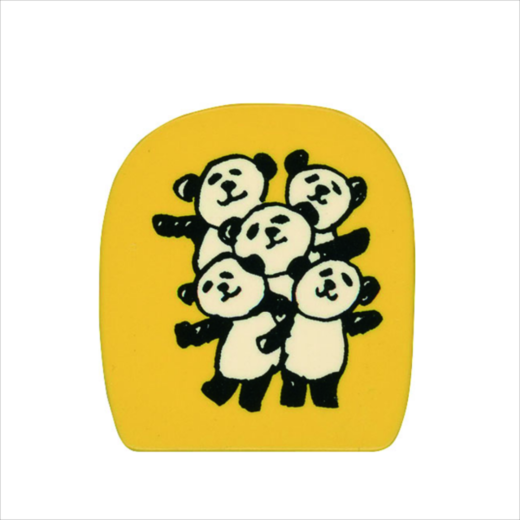 Wooden Stamp Panda Everyone