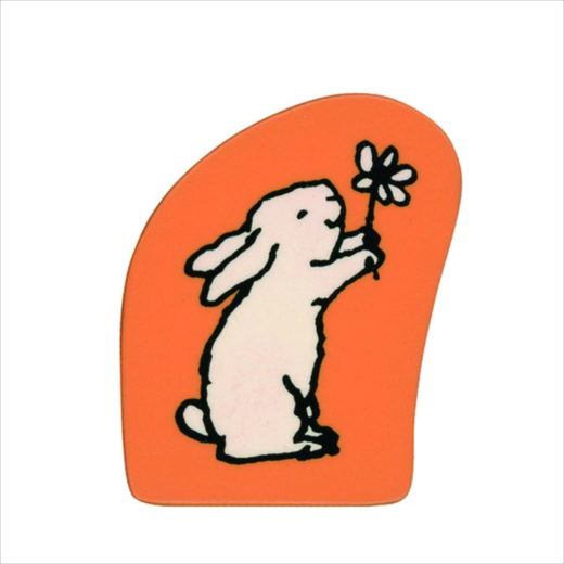 Wooden Stamp Bunny Flower