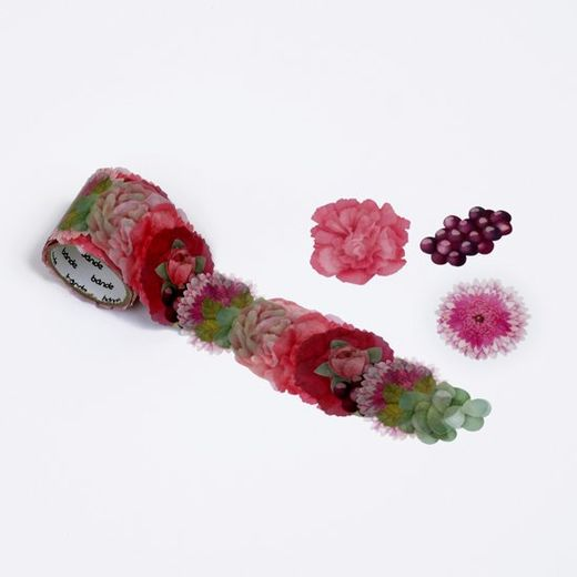 Bande | Washi roll sticker - BDA524 Carnation Bouquet