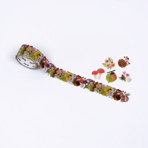 Bande | Washi roll sticker - BDA555 Autumn flower wreath kalo