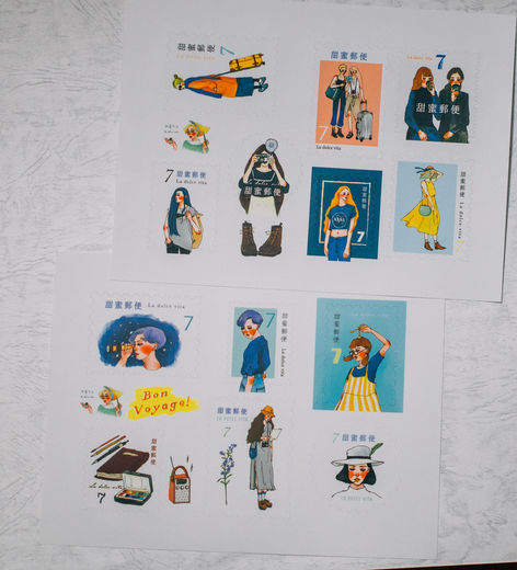LDV Aurora Stamp Sticker Set
