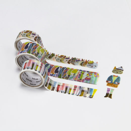Bande | Washi roll sticker BDA214 Stylish Cat