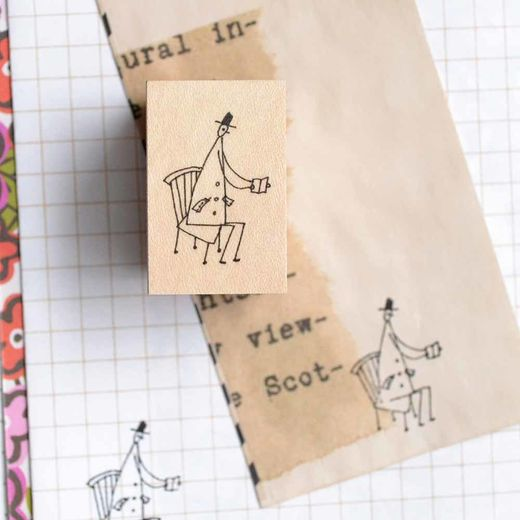 Shuzi Orishige | Rubber Stamp [monokoto jin reading]