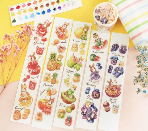 Maruco Art | Fruit Fairy Chacha & Coco Washi