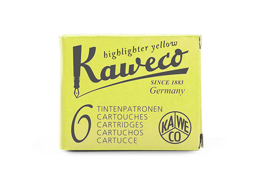 Kaweco Ink Cartridges 6 pieces Highlighter Yellow