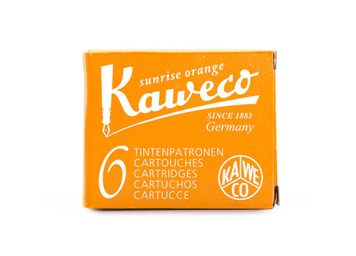 Kaweco Ink Cartridges 6 pieces Sunrise Orange