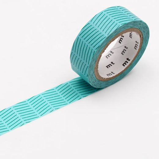 MT Masking Tape Diagonal Green