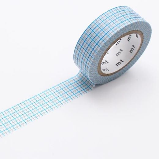MT Masking Tape Blue/Grey Grid