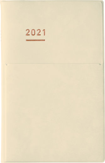 PREORDER: 2021 Jibun Techo  Diary B6 mini - Pale Cream