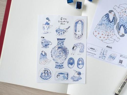 Dodolulu | Something Blue - Sticker Sheet