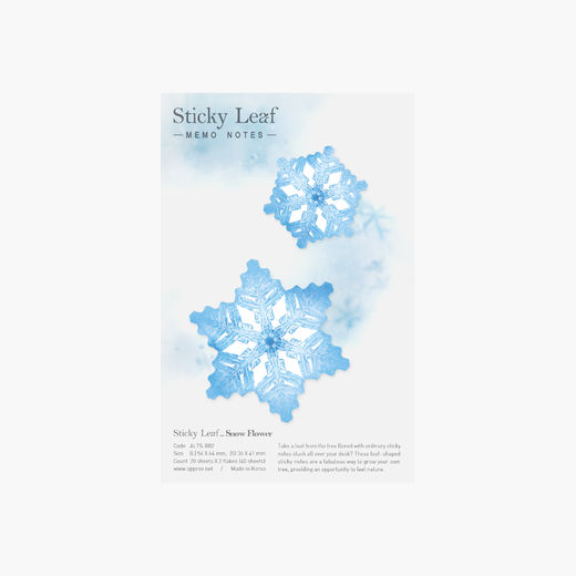 Appree | Sticky Leaf Notes - Snow Flower Blue M