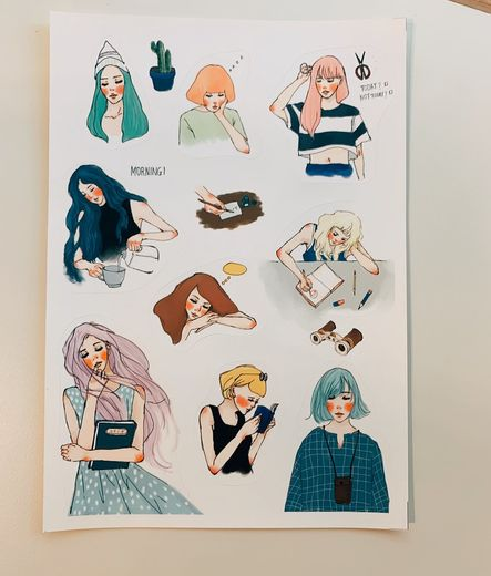 LDV Sweet Life Pocket Girl Sticker sheet