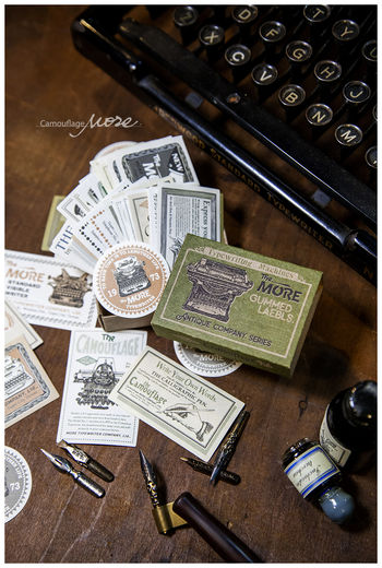 LCN | Gummed Label Set - Antique Company Advertisements