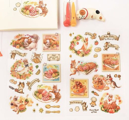 Maruco Art | Neko Bistro Transfer Stickers