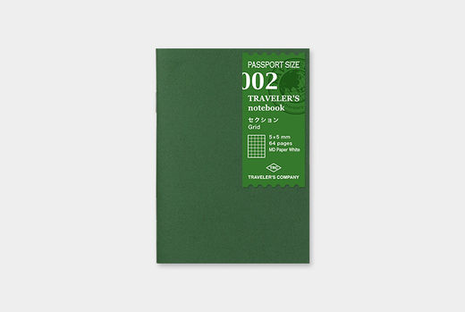 Traveler's Notebook | 002 Grid Refill MD Passport Size