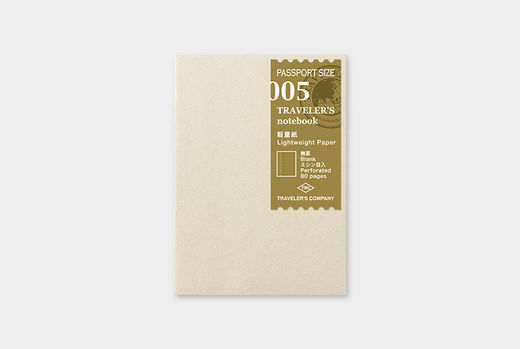 Traveler's Notebook | 005 Lightweight Paper Refill Passport Size