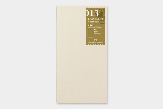 Traveler's Notebook | 013 Lightweight Paper Refill Regular Size