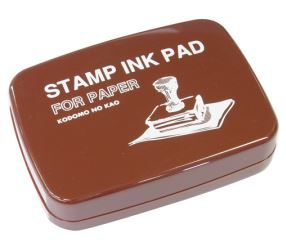 Stamp Ink Pad for Paper - Brown