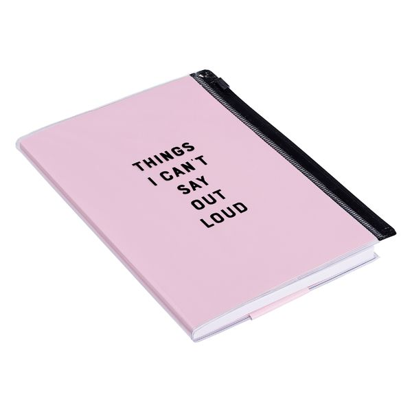 Zip Pouch Notebook - Things I Can't Say Out Loud